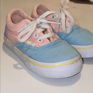 Vans pastel color block toddler shoes size 6.5